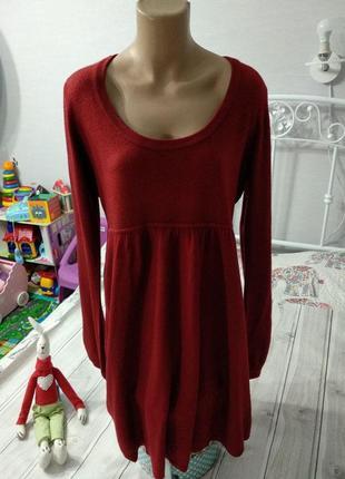 Теплое мягкое платье-туника от gina tricot, 14 размер