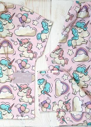 Хлопковая пижама. xs-s, m-l.