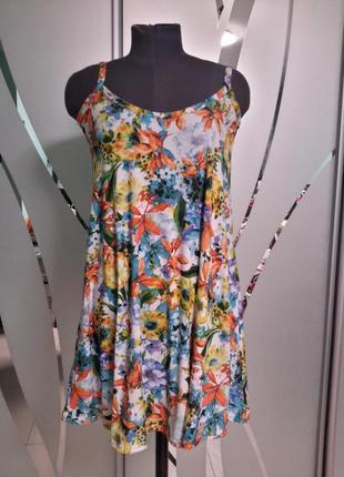 Яркое короткое платье/туника/сарафан