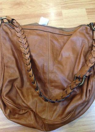 Кожаная сумка h&m