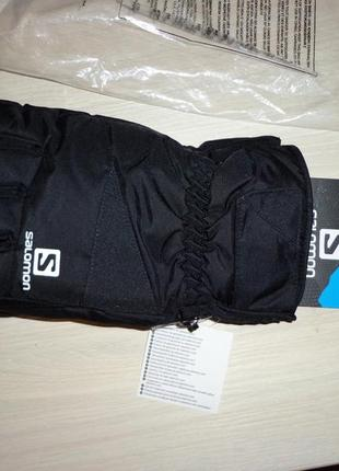 Новые лыжные перчатки salomon force glv insulated gloves горнолыжные