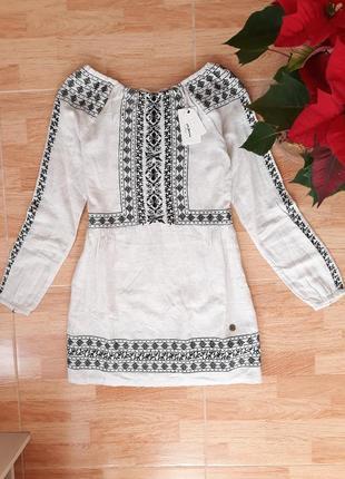 Платье с вышивкой от pepe jeans, sx