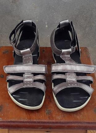 Кожаные сандалии босоножки ecco 40 р. оригинал