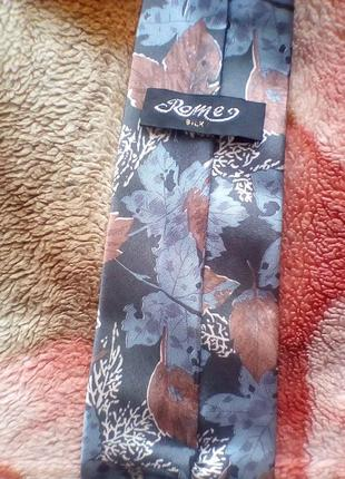 Шёлк галстук принт листья.