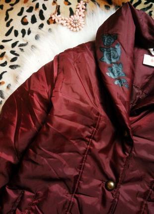 69c5c65816b Зефирка куртка одеяло обьемная бордо с цветочным принтом черным марсала  деми короткая
