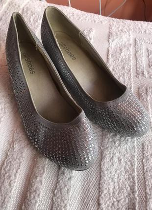 Женские туфли балетки 37 размер 24,5 стелька