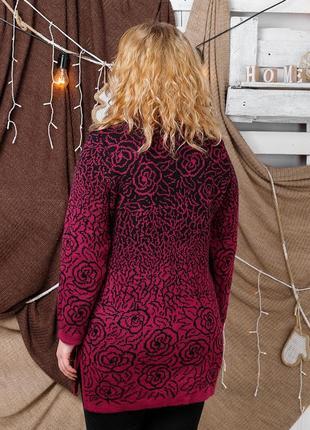 Красивая и теплая туника-свитер для пышных дам (54-62 р.) разные цвета2