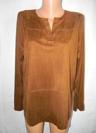 Новая блуза под замш