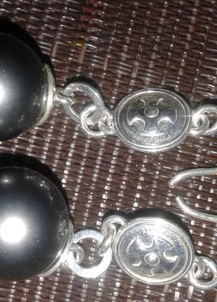 Красивые аутентичные серебряные серьги, плюс подарочек ))