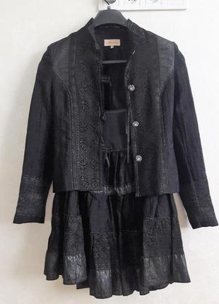 Нарядний костюм чорний з відливом