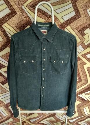 Рубашка джинсовая levis slim fit1