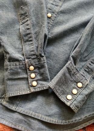 Рубашка джинсовая levis slim fit3