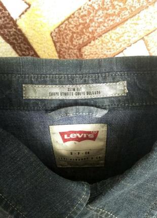 Рубашка джинсовая levis slim fit4
