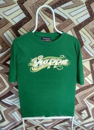 Футболка kappa зеленая большая надпись1