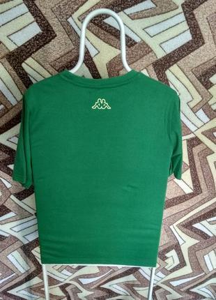Футболка kappa зеленая большая надпись2