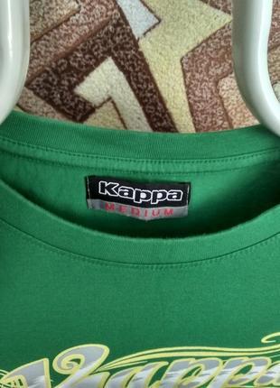 Футболка kappa зеленая большая надпись3