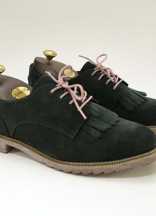 Clarks женские туфли 39 размер на стопу 25.5 см зелёные розовые хаки замшевые оригинал