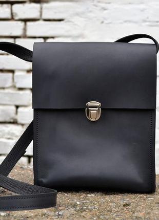 Шкіряна сумка boybox унисекс , сумка ручной работы через плечо