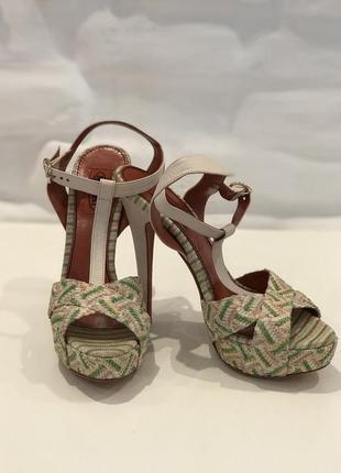 Missoni женские туфли люрекс р.37 made in italy!