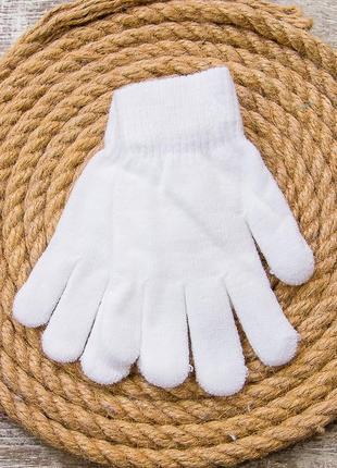 Перчатки детские однотонные