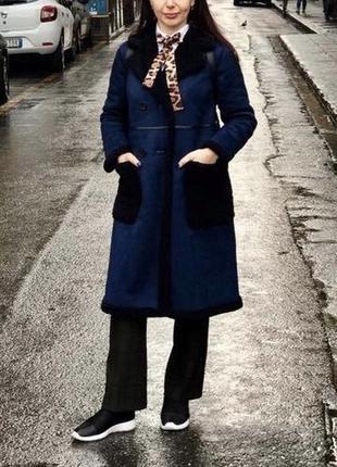 Нереально красивое пальто дубльонка пальто zara овчина шуба
