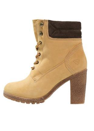 Р40 tamaris,германия оригинал! натуральная кожа! зимние теплые (шерсть) сапоги ботинки