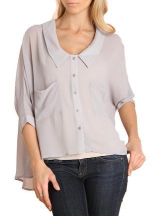 Блуза стиль oversize (сша)  с воротником s-m