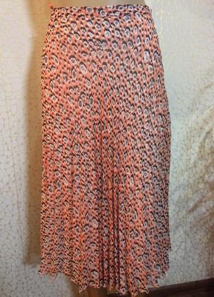Тренд сезона!!! плиссированная юбка с принтом от m&s с подкладкой