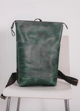 Рюкзак shell ручной работы из натуральной кожи crazy horse