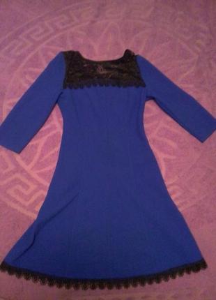 Платье электрик