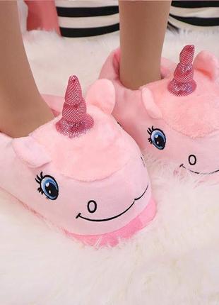 Тапочки-игрушки единороги pink  36-38р