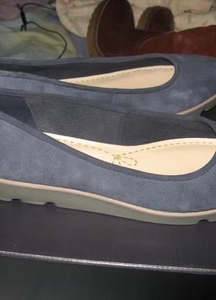 Кеды балетки мокасины clarks замша оригинал новые размер 38 по стельке 24.5 см4
