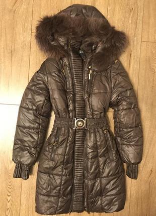 Шоколадное пальто с дополнительным размером