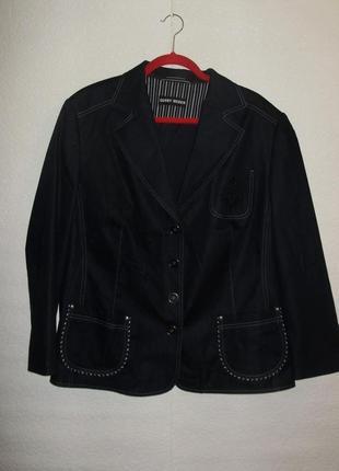 Стильный пиджак на подкладке под джинсу/батал/54-56 размера