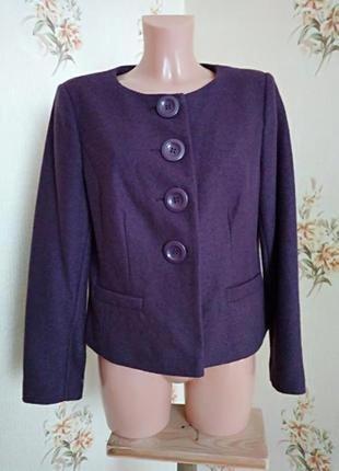 Короткое пальто классика, в составе есь шерсть