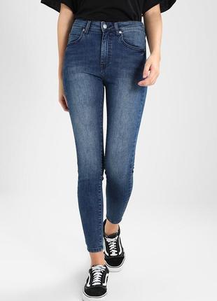 Плотные джинсы на высокой посадке bershka