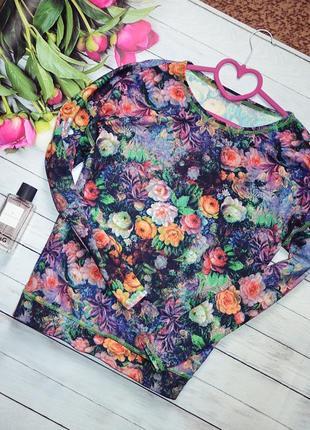 Шикарный свитшот в цветы