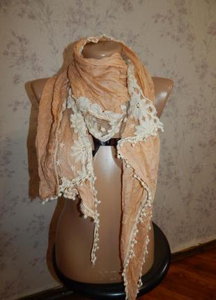 Miss selfridge шарф котоновый стильный модный