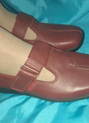Новые кожаные туфли мокасины hotter р 39 англия1