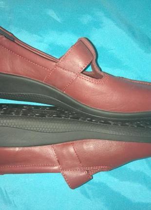 Новые кожаные туфли мокасины hotter р 39 англия3
