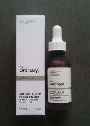 Кислотный пилинг для лица the ordinary aha 30% + bha 2% peeling solution