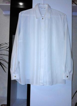 Элегантная белая рубашка  marks & spencer
