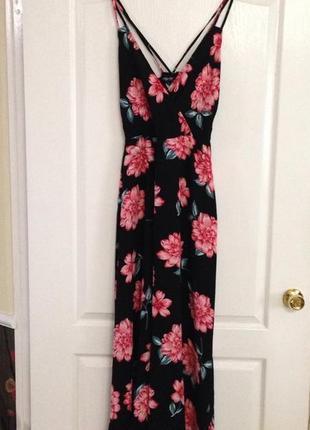 Макси платье цветочный принт jane norman, новое!