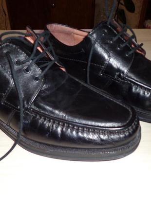 Новые мужские черные кожаные туфли clarks кларкс 43 размер