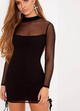 Платье сеточка prettylittlething, новое!