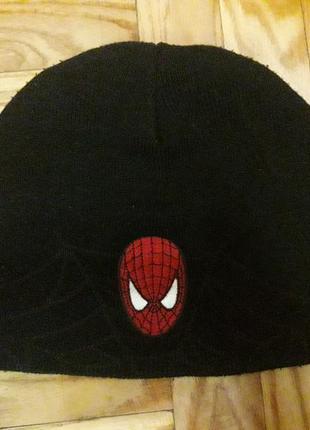 Шапка spider  man человек паук marvel на 8-11 лет
