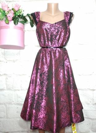 Платье миди новое нарядное пышная юбка р 24 батал