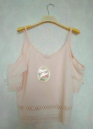 Шикарная блуза топ майка бренда new look cameo rose,размер 12