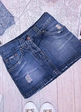 Ультрамодная джинсовая миниюбка terranova.