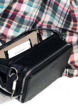 Клатч необычный . черная сумочка